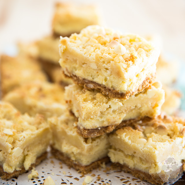 White Chocolate Lemon Cheesecake Bars