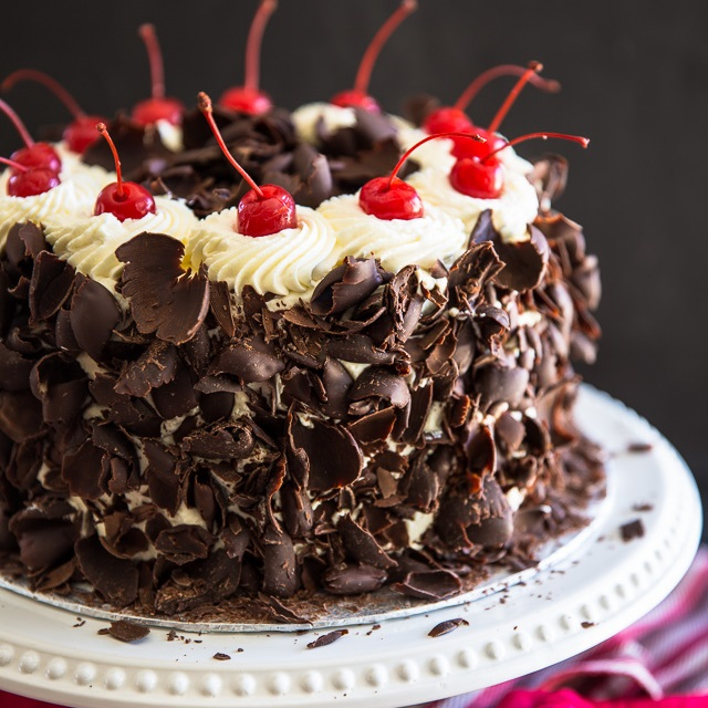 Cake Black Forest Birthday : Black Forest Cake   My Evil Twin s Kitchen