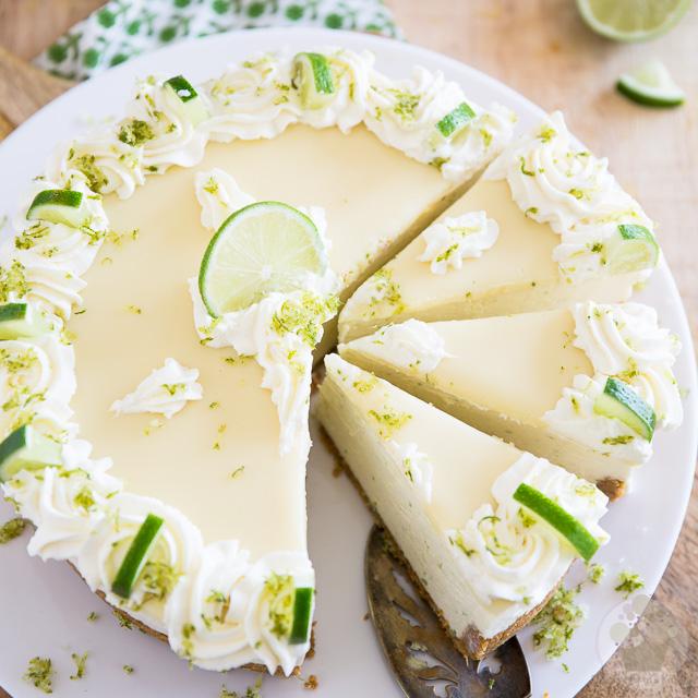 No Bake White Chocolate Lime Cheesecake