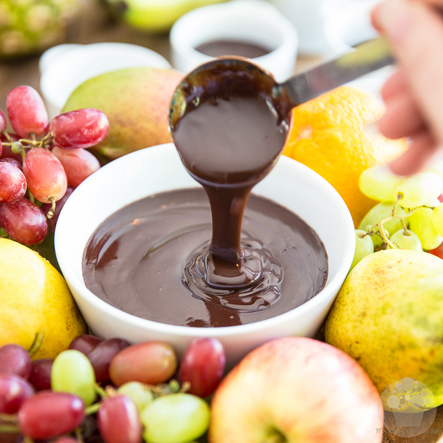 No Pot Required Chocolate Fondue