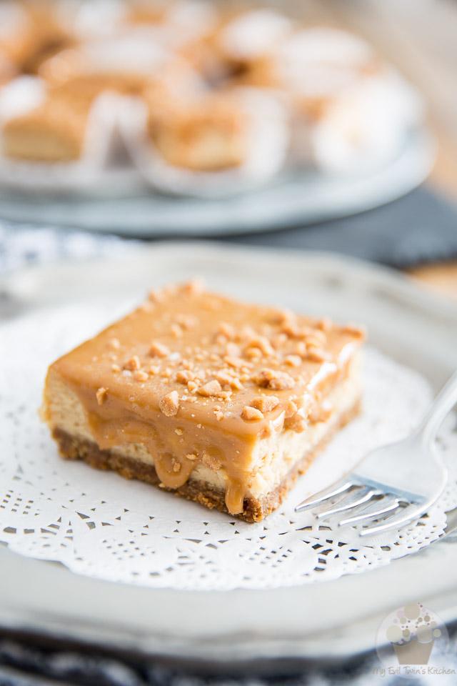 Dulce de Leche Cheesecake Bars • My Evil Twin's Kitchen