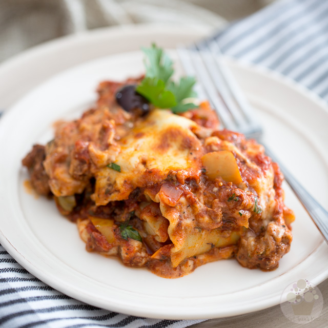 Triple Cheese Lasagna