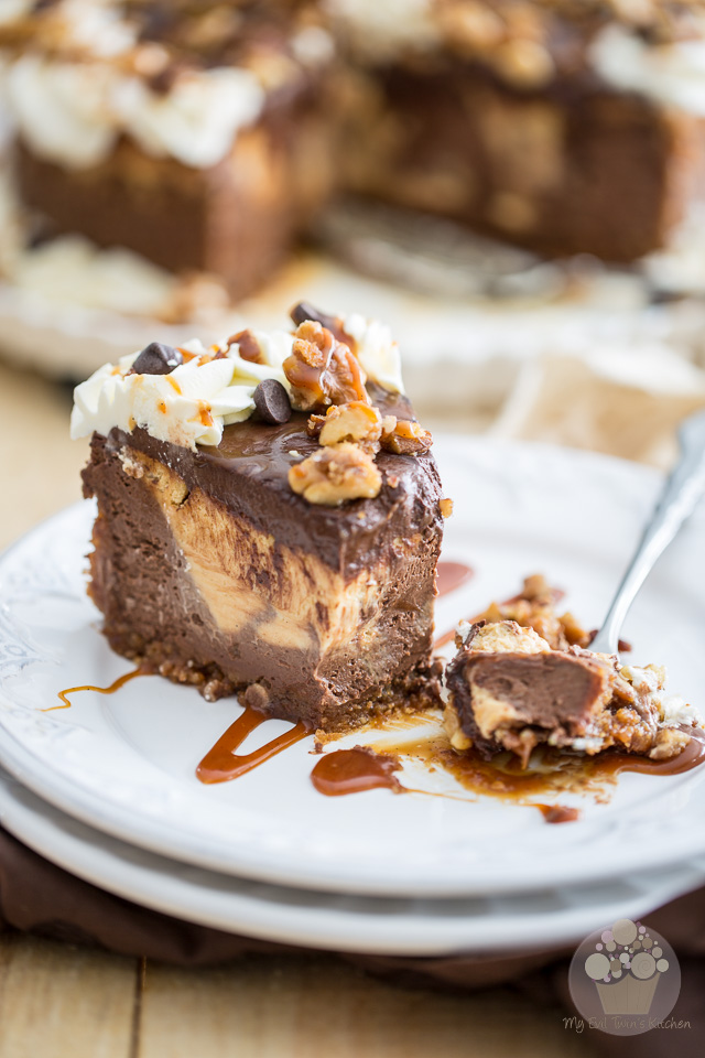 Chocolate Salted Caramel Cheesecake | eviltwin.kitchen