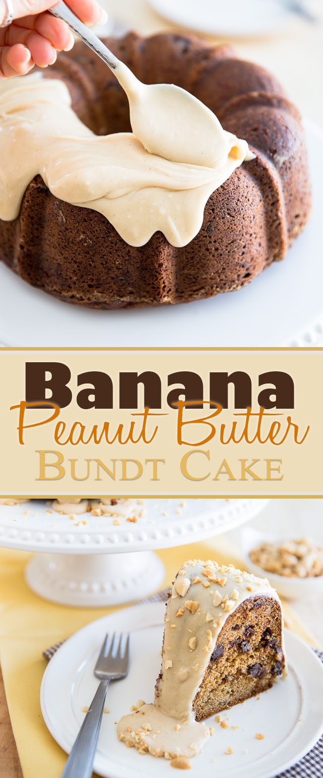 Banana Peanut Butter Bundt Cake | eviltwin.kitchen
