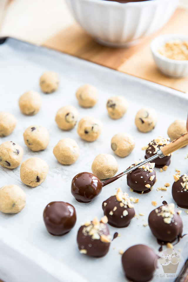 Peanut Butter Cookie Dough Truffles   eviltwin.kitchen