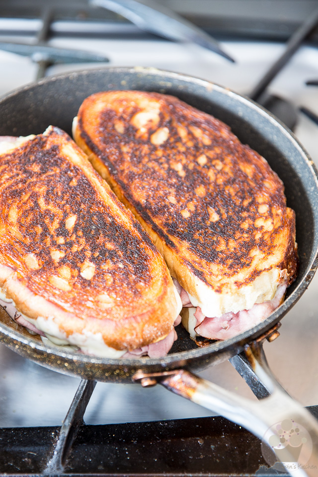 Smoked Ham Grilled Cheese Sandwich   eviltwin.kitchen