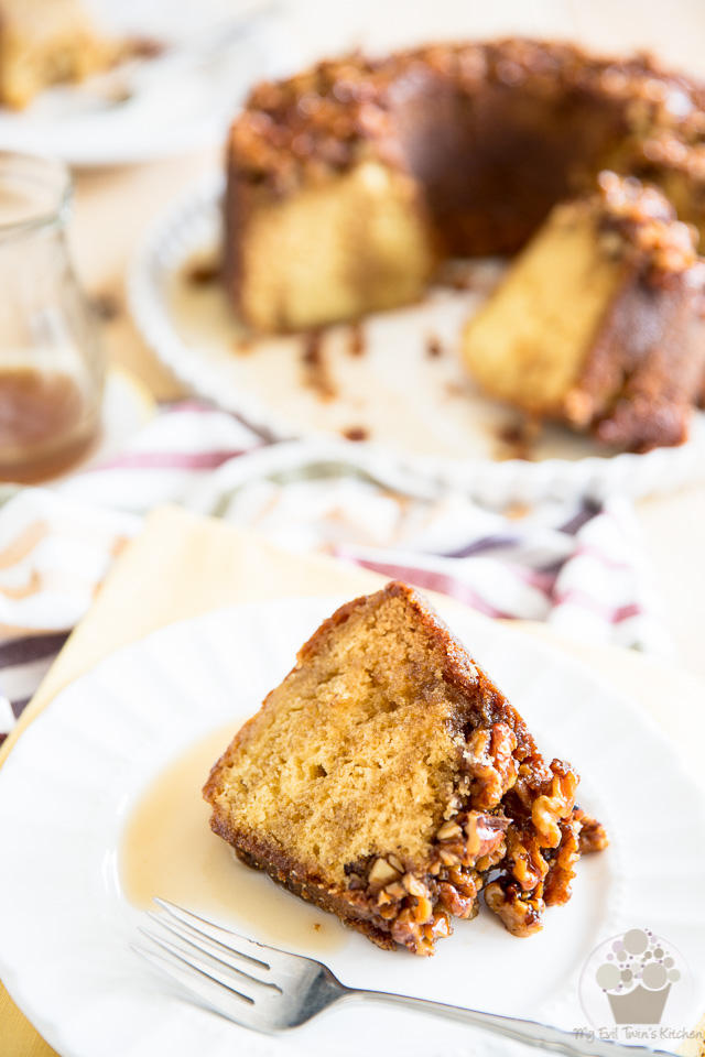 Maple Bourbon Walnut Cake | eviltwin.kitchen