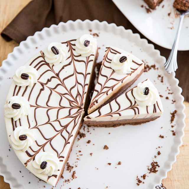 No-Bake Chocolate Kahlua Cheesecake