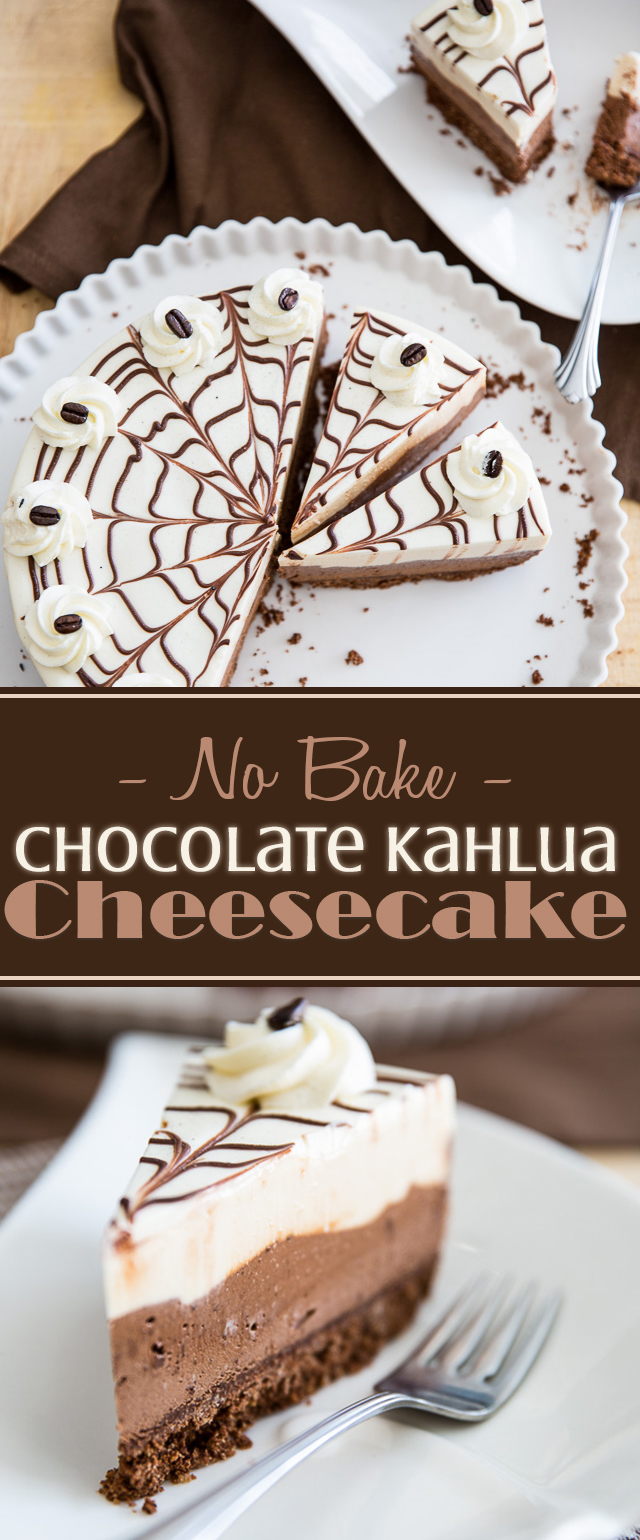 No-Bake Chocolate Kahlua Cheesecake | eviltwin.kitchen
