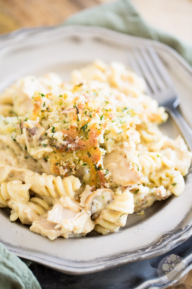 Three Cheese Chicken Baked Rotini | eviltwin.kitchen
