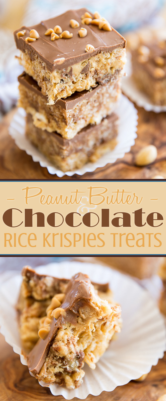 Peanut Butter Chocolate Rice Krispies Treats | eviltwin.kitchen