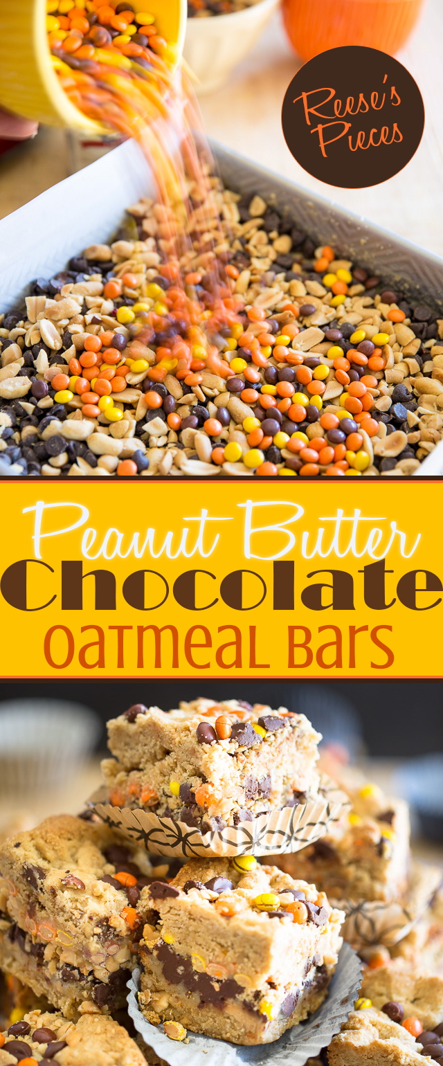 Reeses Peanut Butter Chocolate Oatmeal Bars | eviltwin.kitchen