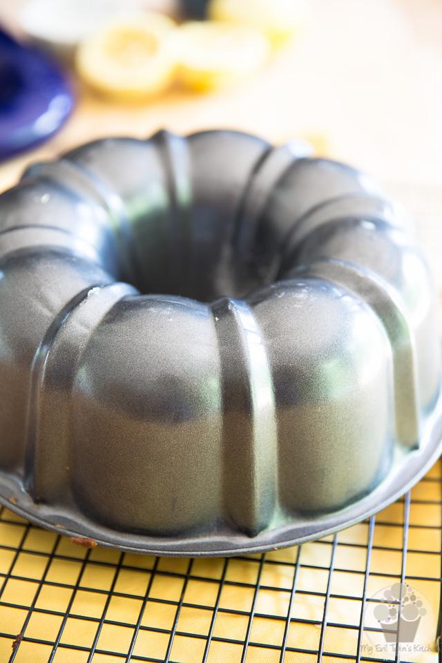 Making the cake - Lemon Cream Cheese Bundt Cake step-by-step instructions