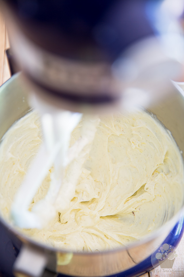 Making the cream cheese filling - Lemon Cream Cheese Bundt Cake step-by-step instructions
