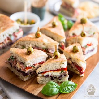 The perfect sandwich for your next picnic: on top of being super pretty, this Tapenade Salami Sandwich is crazy tasty, real easy to make and very portable, too!