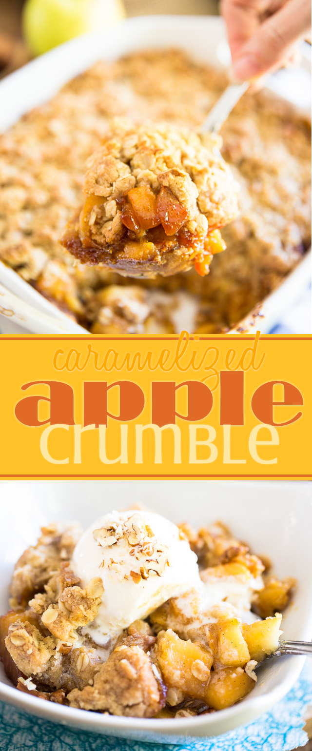 Quick and easy to make, this Caramelized Apple Crumble puts a twist on a classic weeknight dessert that the whole family will love!