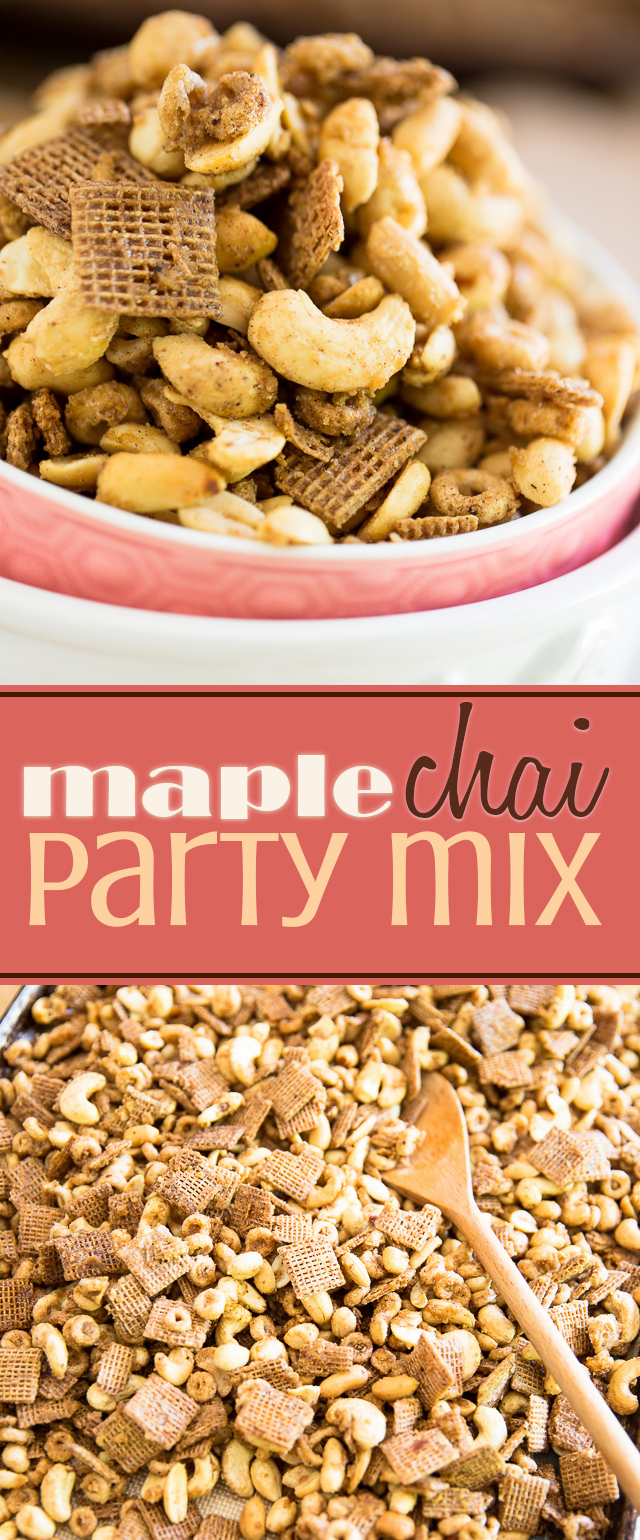 Planning a party? This Maple Chai Party Mix is just what you'll need to satisfy your sweet snack attack (and that of your friends) when the craving strikes!