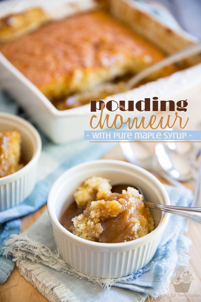 A true staple in Quebec, Pouding Chomeur is a moist vanilla cake cooked in its very own creamy maple sauce. As easy to make as it is delicious to eat!
