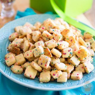 As cute as they are delicious and addictive to eat, these Funfetti Shortbread Tidbits will be a favorite at your next party - they'll disappear in no time!