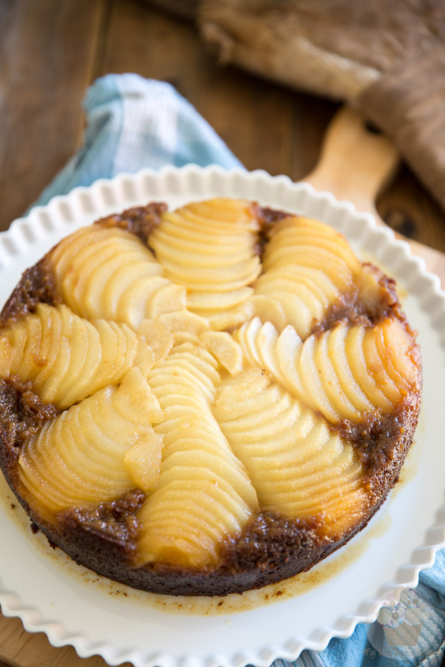 Upside Down Spiced Pear Cake by My Evil Twin's Kitchen | Recipe and step-by-step instructions on eviltwin.kitchen