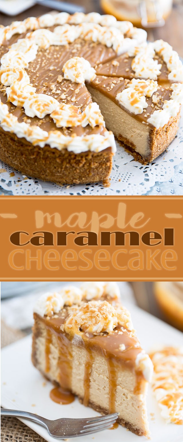 The ultimate treat for the cheesecake fan who also happens to be a lover of all things maple, this Maple Caramel Cheesecake tastes like pure heaven!