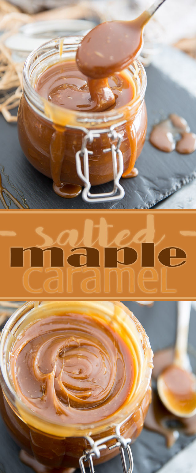 Simply put, this Salted Maple Caramel is totally heavenly - it's just like spoonable maple fudge! So delicious, you'll want to bathe in it!
