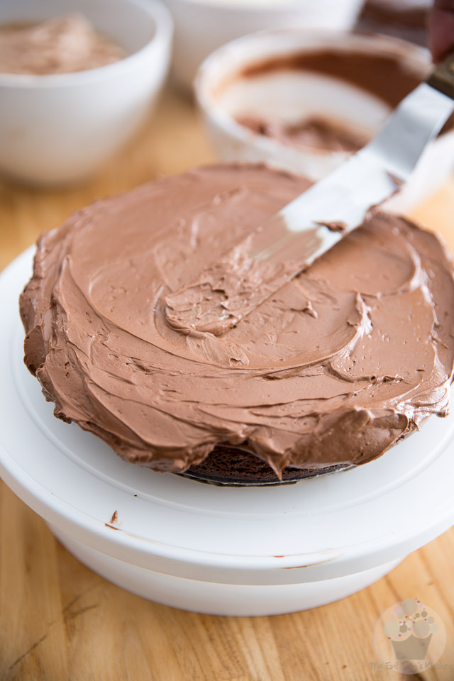 Triple Chocolate Ombre Cake by My Evil Twin's Kitchen | Recipe and step-by-step instructions on eviltwin.kitchen