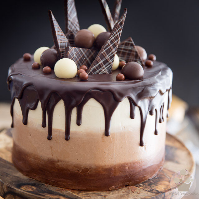 Chocolate Cake Decorated With Chocolates