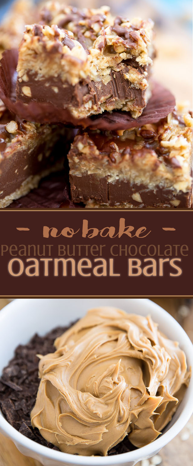 No-Bake Peanut Butter Chocolate Oatmeal Bars by My Evil Twin's Kitchen | Recipe and step-by-step instructions on eviltwin.kitchen