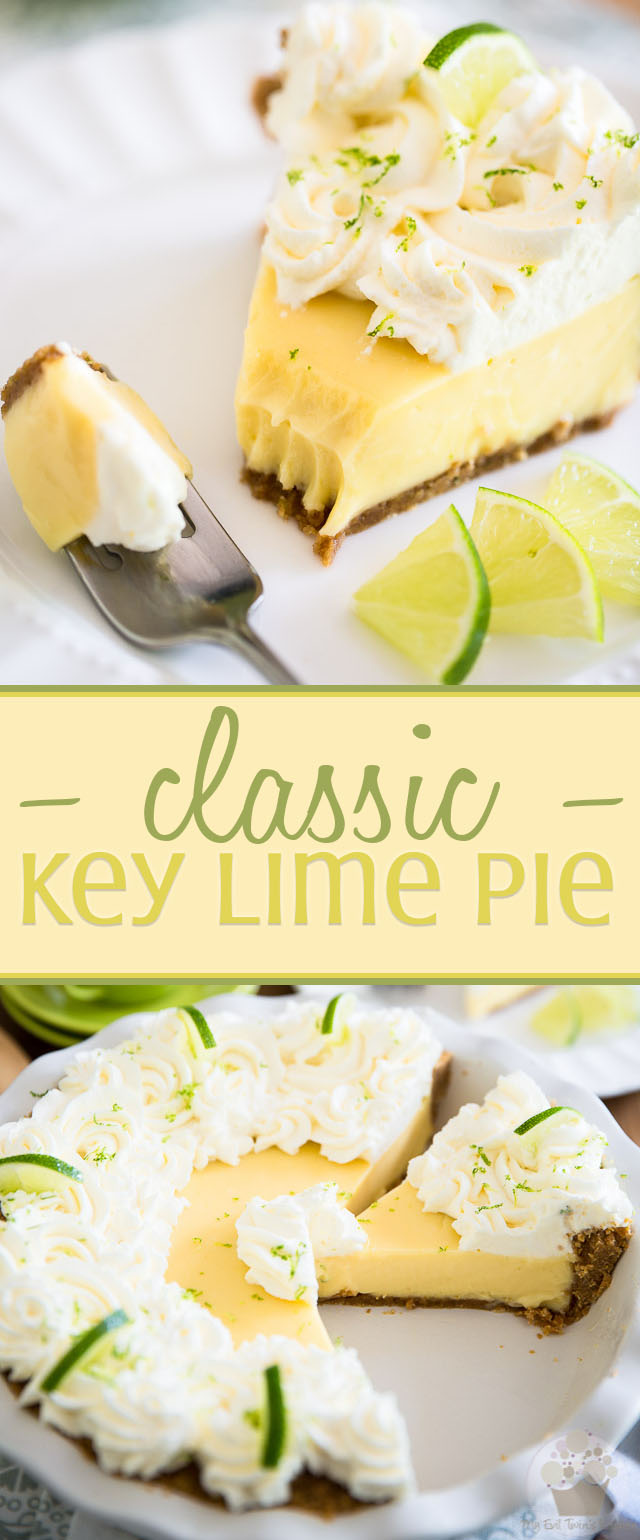 Key lime juice, egg yolks and condensed milk baked in a graham cracker crust and topped with a generous amount of whipped cream - Key Lime Pie is a favorite classic dessert that needs no introduction!