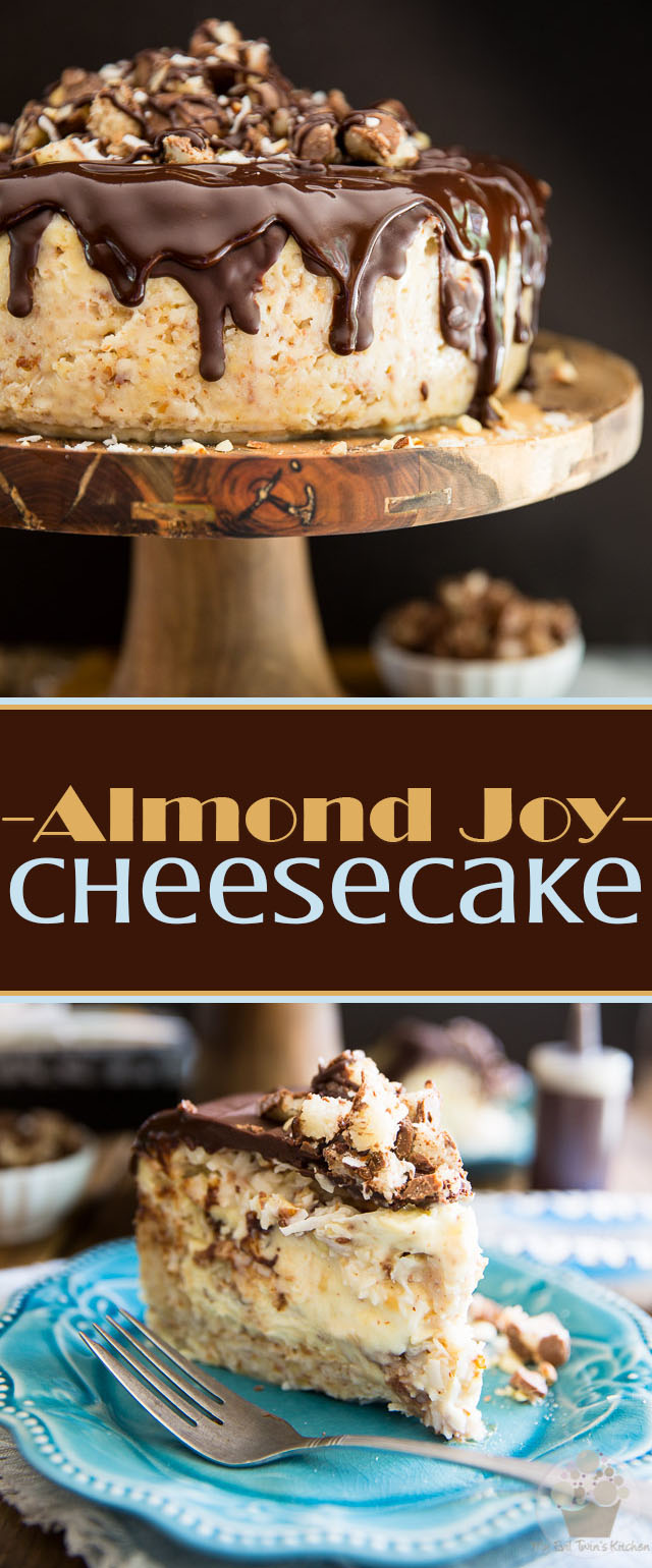 This Almond Joy Cheesecake is the ultimate treat for true coconut lovers - How many Bounty Bars can you eat in a row? This cake will definitely test you!