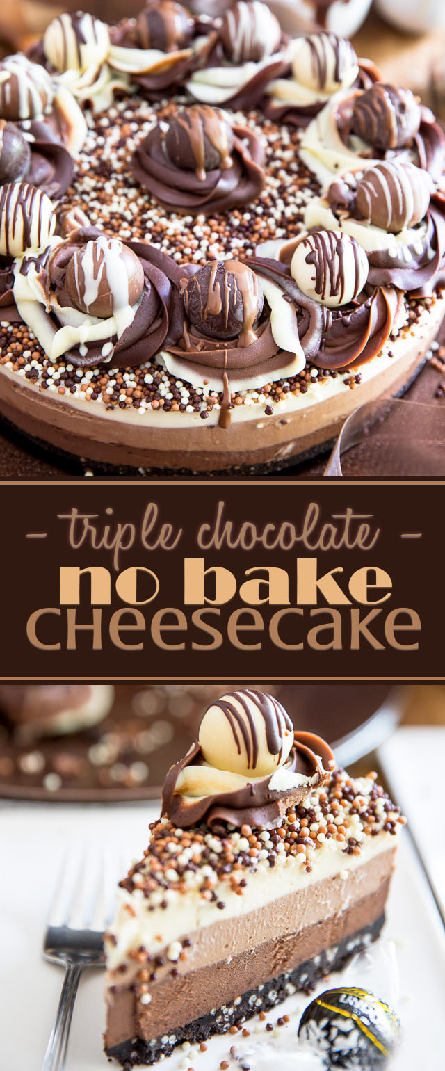 Triple Chocolate No Bake Cheesecake My Evil Twin S Kitchen