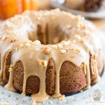 Pumpkin Spice Bundt Cake with Brown Sugar and Cream Cheese Glaze by My Evil Twin's Kitchen | Recipe and step-by-step instructions on eviltwin.kitchen