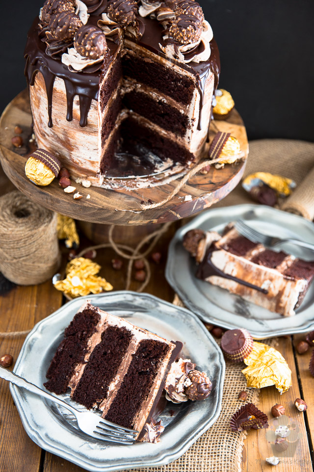 As spectacular as it may look, this Nutella Ferrero Rocher Chocolate Cake isn't nearly as complicated to make as you may imagine... but it certainly won't fail to impress, and please, the chocolate lovers in your life!