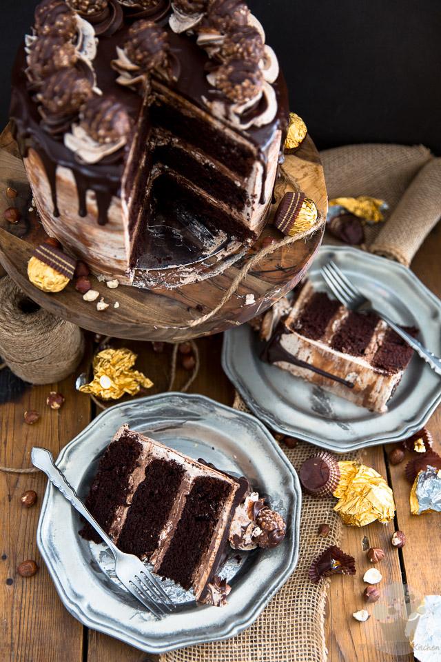 how to make nutella and ferrero rocher cake