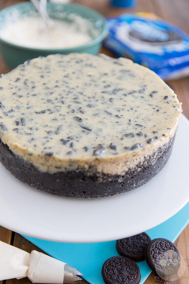 Cookies and Cream Oreo Cheesecake by My Evil Twin's Kitchen | Recipe and step-by-step instructions on eviltwin.kitchen